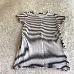 Rag & Bone Striped Crewneck T-Dress